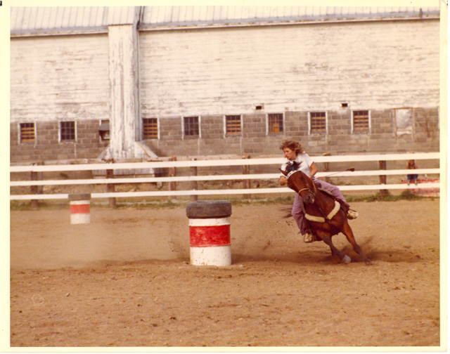 Me, barrel racing my horse, Skeeter Reese. I wrote a book about Skeeter!