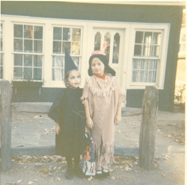 Me and my cousin Lynn. I'm the Indian.